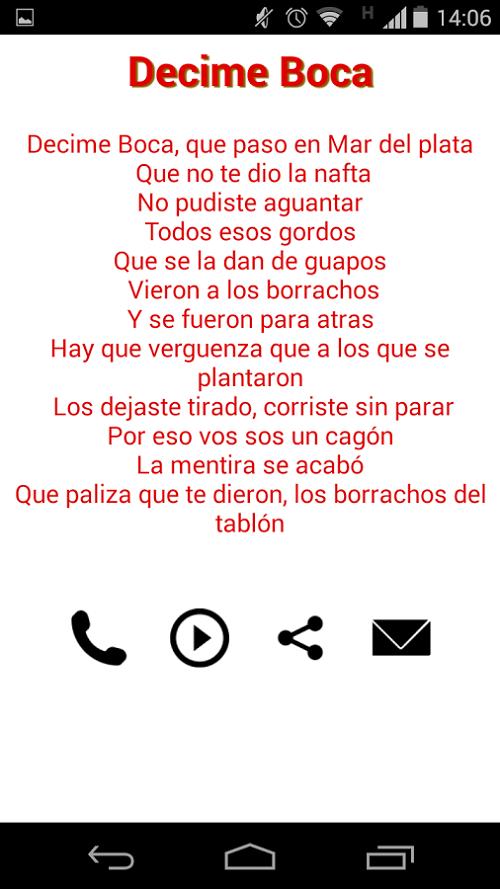Scarica Canzoni Boca vs River per Android 2