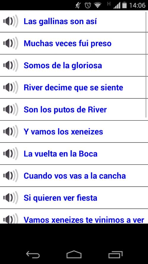 Scarica Canzoni Boca vs River per Android 3