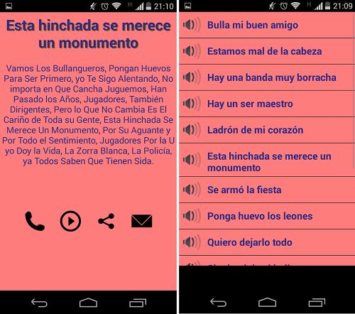Scarica Colo Colo vs U Chile Canticos per Android 4