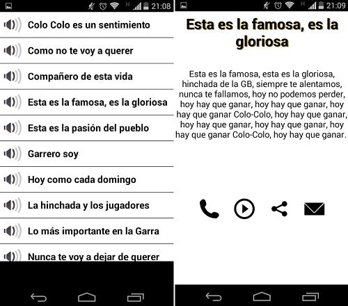 Scarica Colo Colo vs U Chile Canticos per Android 2