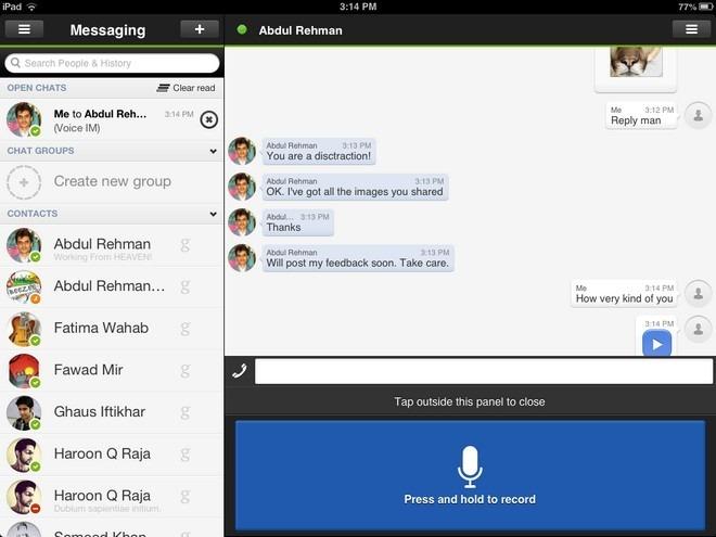 Scarica imo per Tablet: la migliore applicazione di messaggistica 2