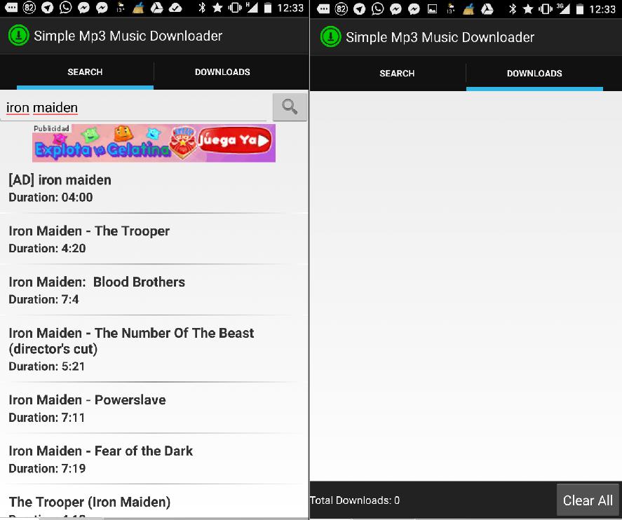 Scarica musica MP3 gratis sul cellulare 1