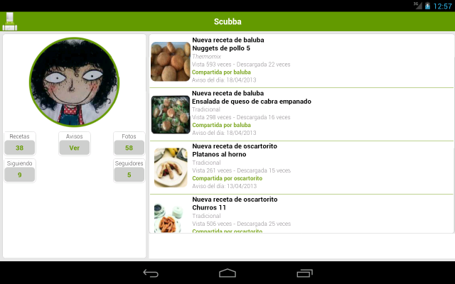 Scarica le ricette di cucina per Android 4