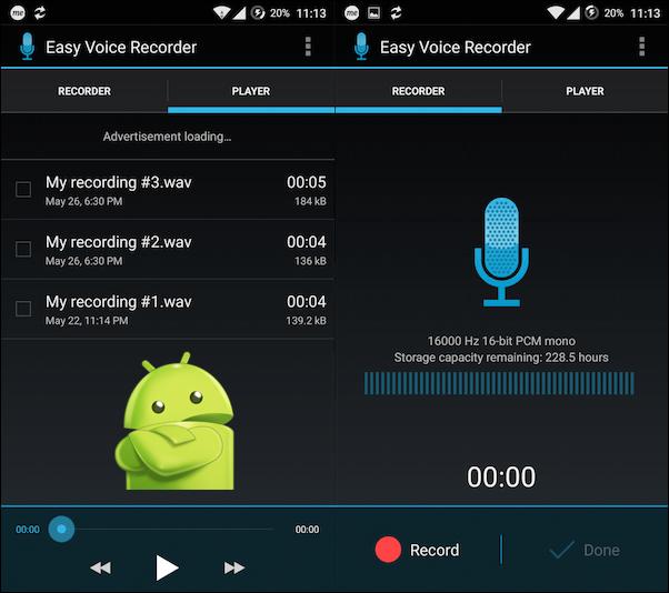 Quali sono le migliori app per registrare memo audio o vocali su telefoni Android? Elenco 2019 1