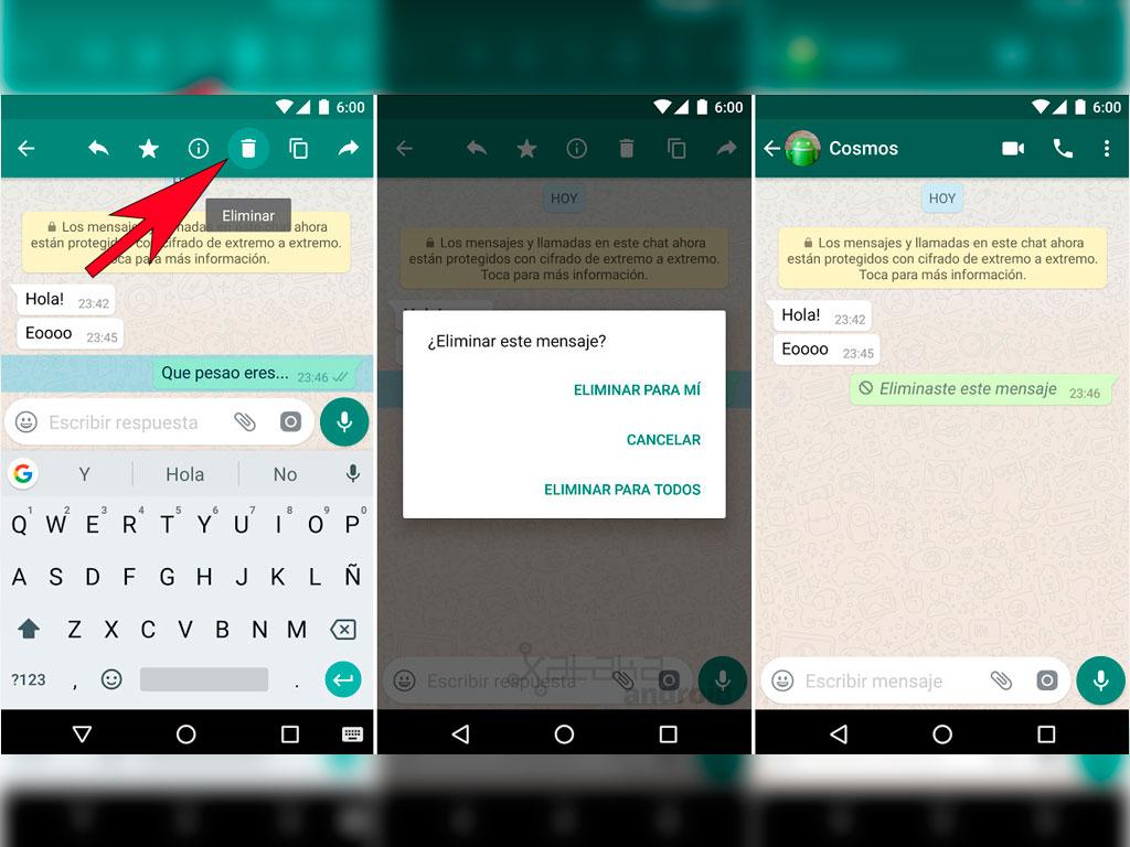 Cosa fare se ho inviato un messaggio per errore in WhatsApp? 1