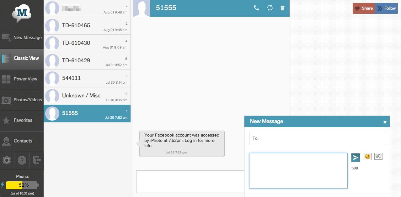 Come inviare SMS o messaggi di testo dal computer con MightyText 1