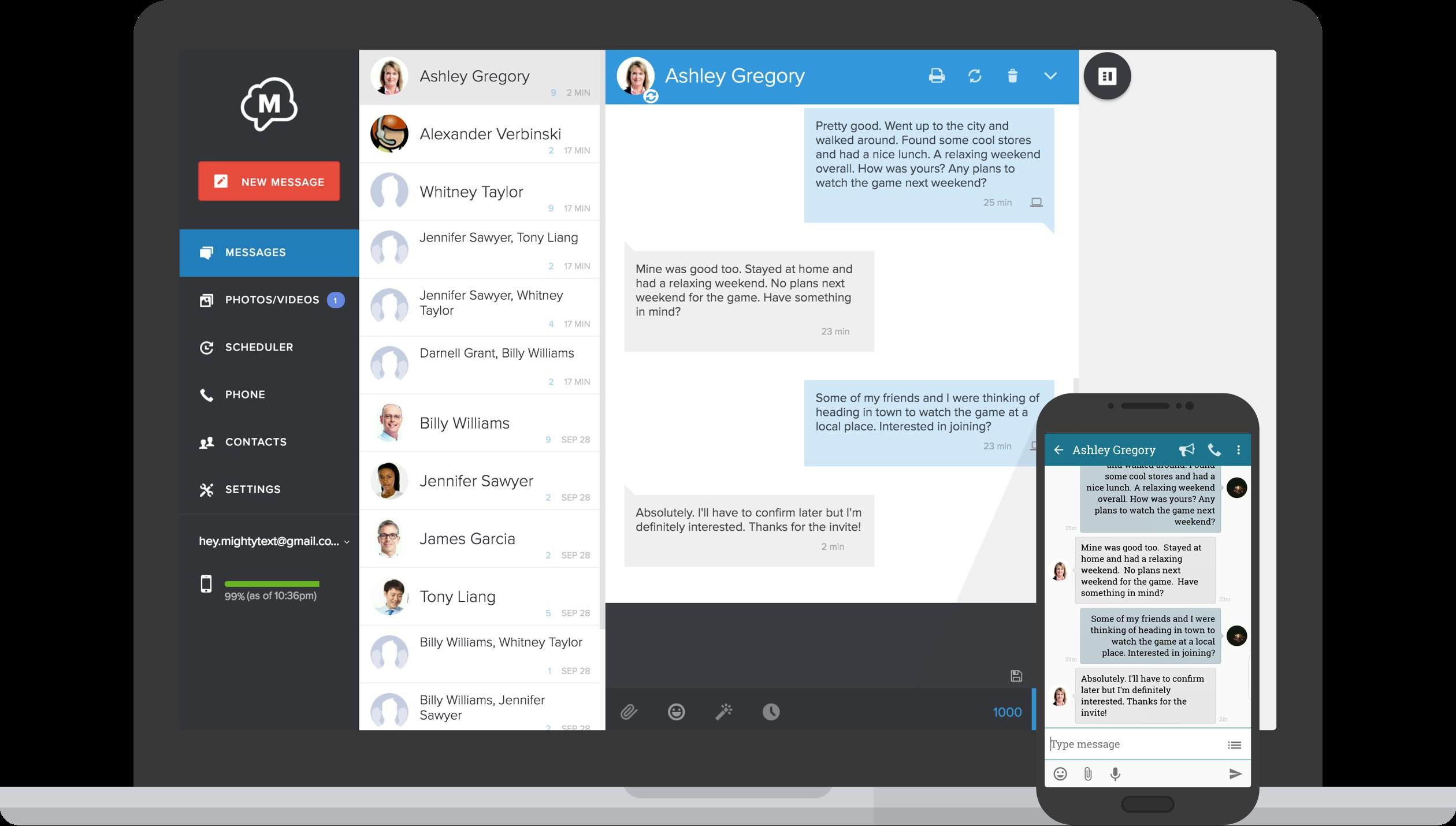 Come inviare SMS o messaggi di testo dal computer con MightyText 2