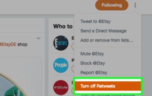 Come nascondere i retweet da altre persone su Twitter? 20