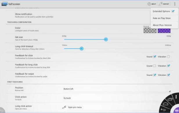 Scarica Full! Screen per Android. Utilizzando lo schermo intero del dispositivo 2