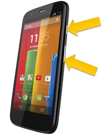 Come fare uno screenshot su un Motorola XT621 e Moto G 2015 3