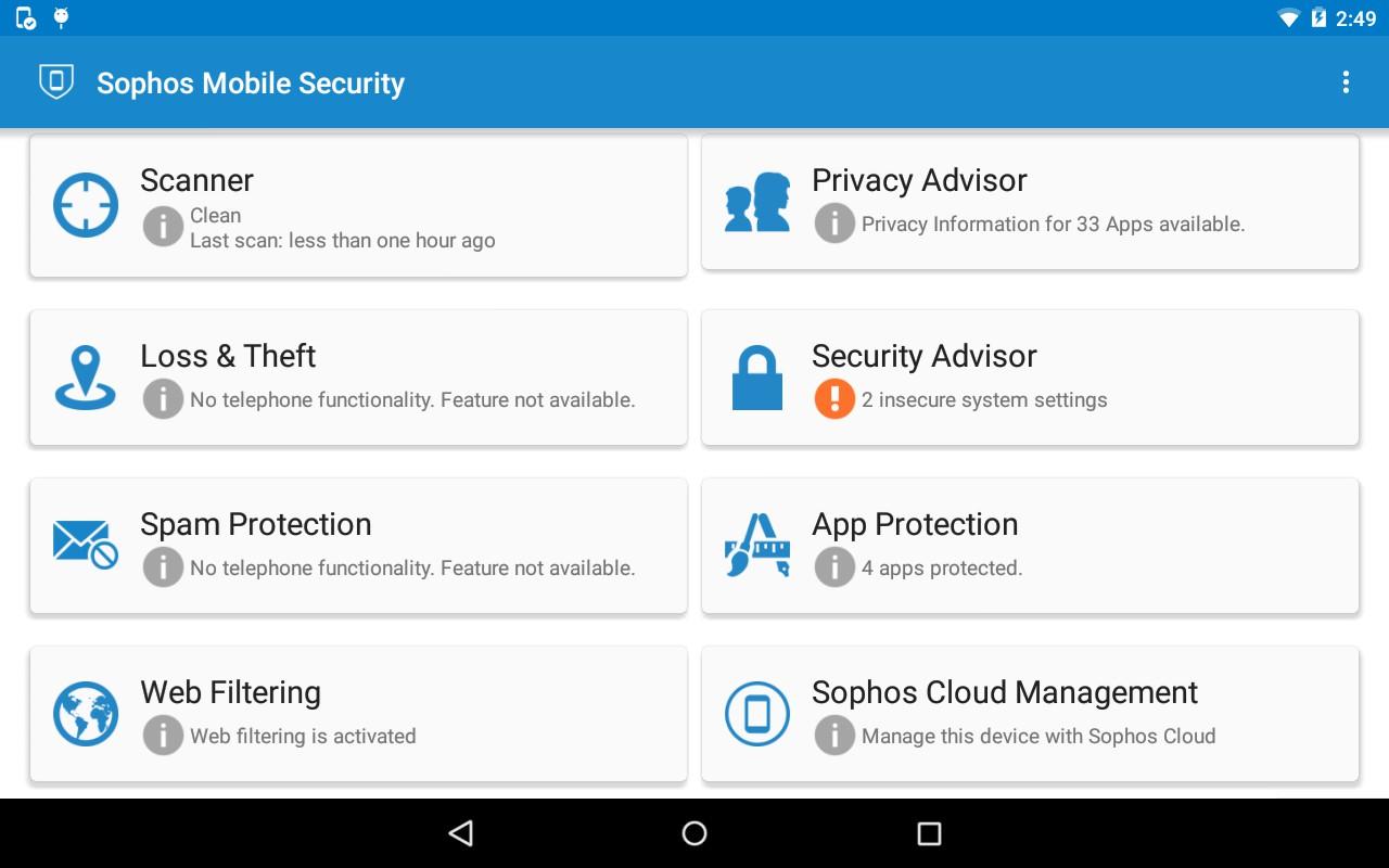 Il miglior antivirus per Samsung Galaxy Tab 2