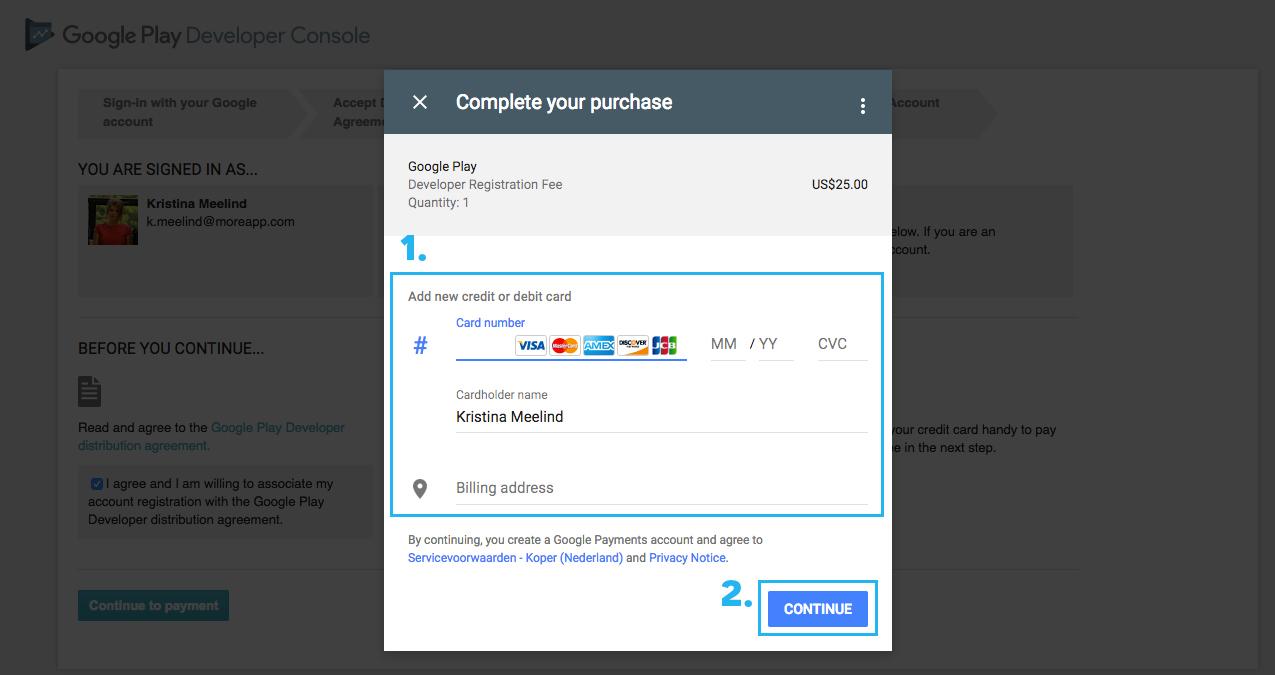 Come impostare un metodo di pagamento in Google Play 1