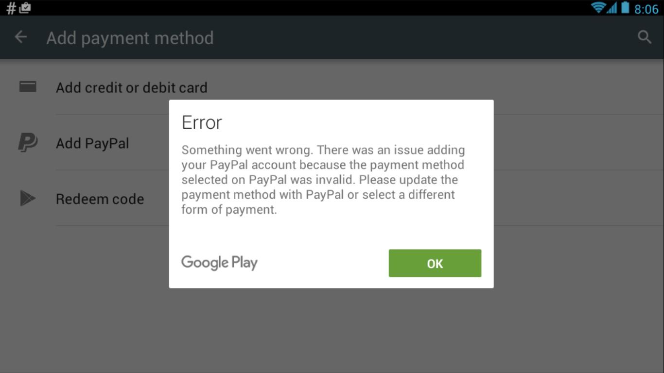 Come impostare un metodo di pagamento in Google Play 2