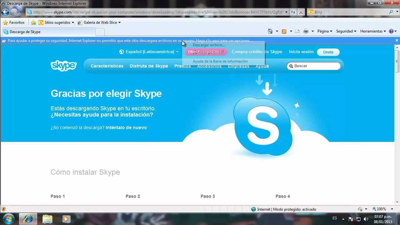 Soluzione I Impossibile inserire Skype 2