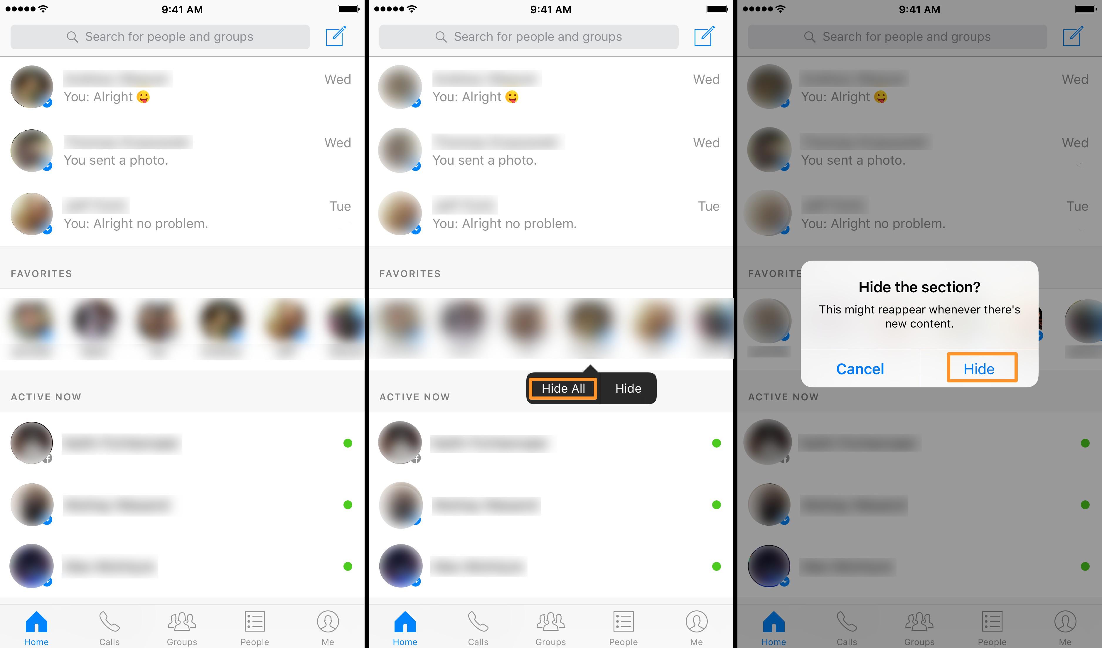 Come nascondere la co-connessione in Facebook Messenger? 2