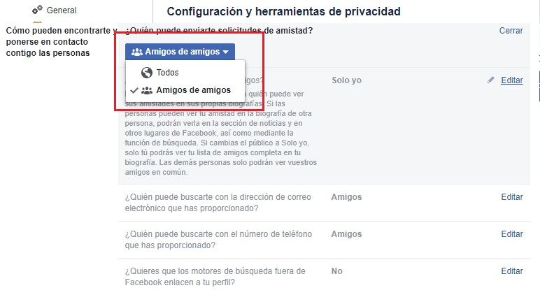 Come configurare Facebook in spagnolo e migliorare la mia privacy sui social network? Guida passo passo 4