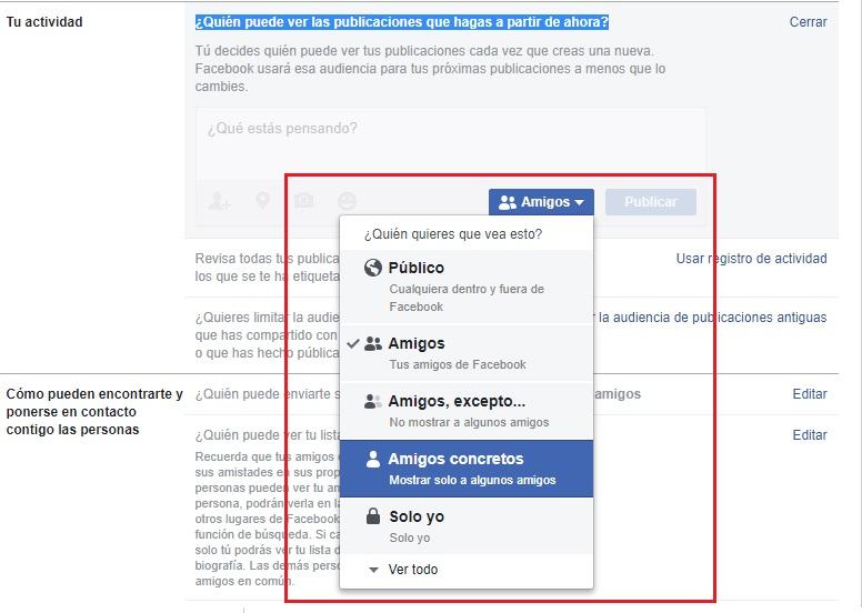 Come configurare Facebook in spagnolo e migliorare la mia privacy sui social network? Guida passo passo 3