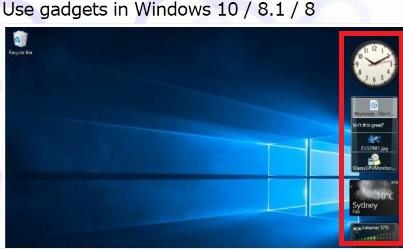Come recuperare i famosi gadget desktop per il tuo computer Windows 10 e 8? Guida passo passo 2
