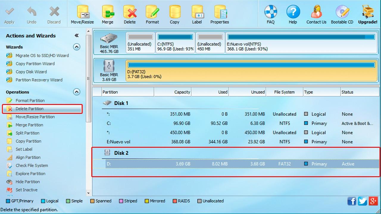 Come partizionare una scheda SD o MicroSD in Windows, Mac o Android 2
