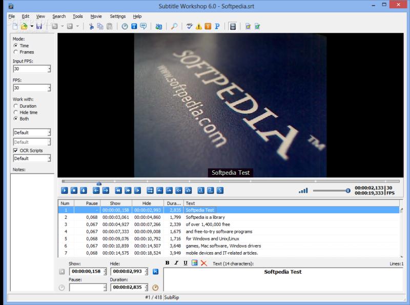 Come sottotitolare qualsiasi video con Sottotitoli Workshop 1