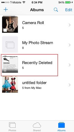 Come recuperare tutte le foto cancellate dal telefono iPhone o iPad? Guida passo passo 1