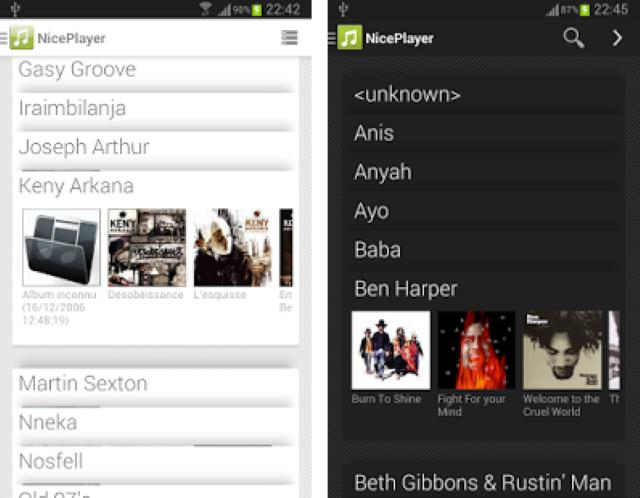 I migliori lettori musicali per Android 2.3.6 4