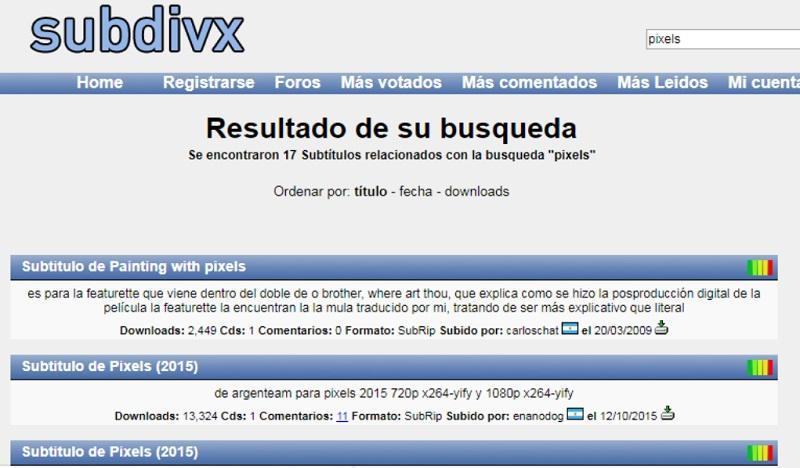 Quali sono i migliori siti Web per scaricare gratuitamente sottotitoli di film e serie in spagnolo? Elenco 2019 5