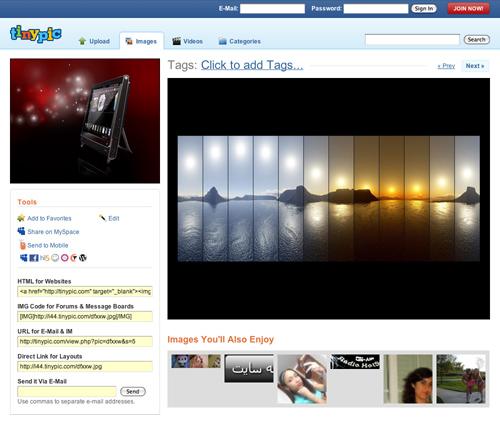 Come caricare foto e video su Tinypic 1