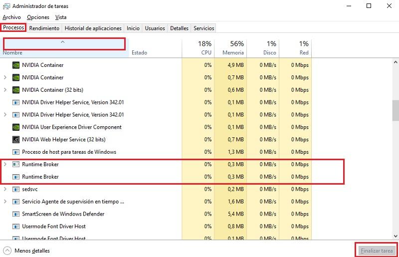 Runtime Broker Che cos'è e come evitare un consumo eccessivo di RAM e CPU del PC? 2