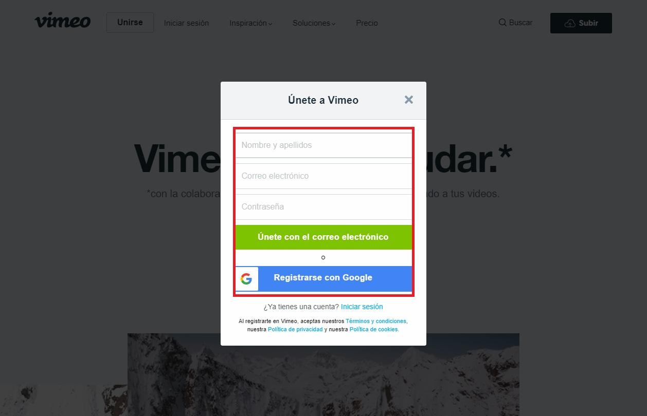 Come creare un account Vimeo per guardare e caricare video in streaming gratuiti? Guida passo passo 12