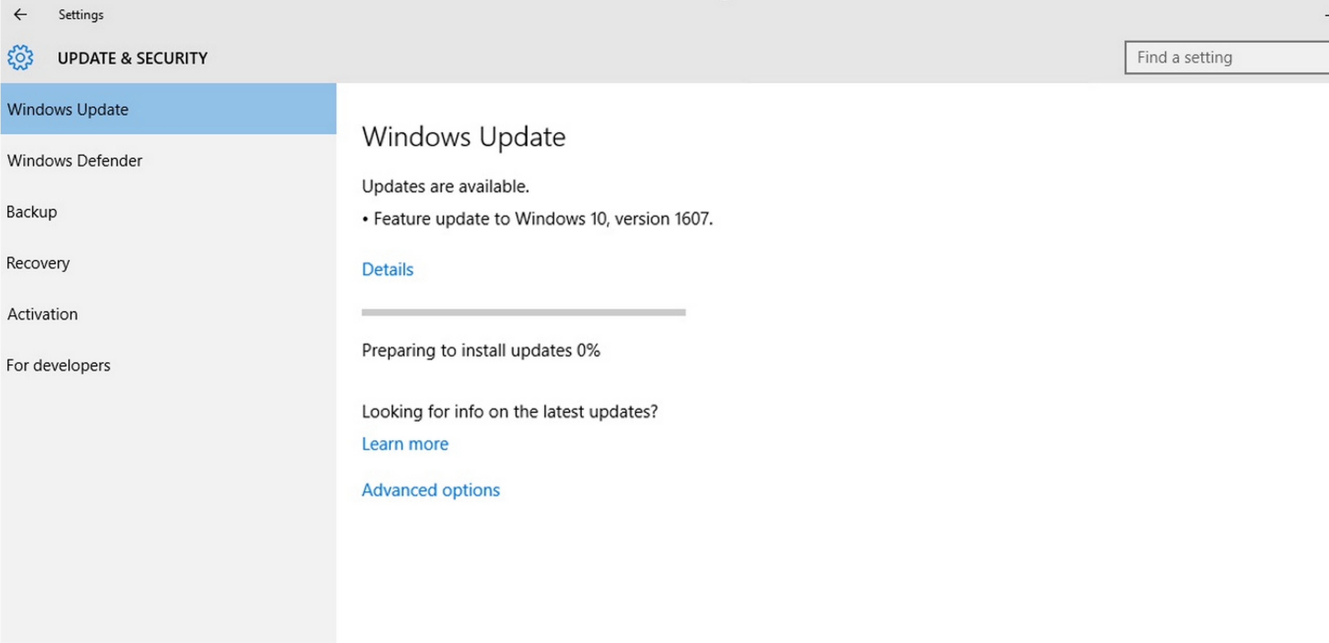 Cosa fare se Windows Update inizia a ricevere aggiornamenti? 1
